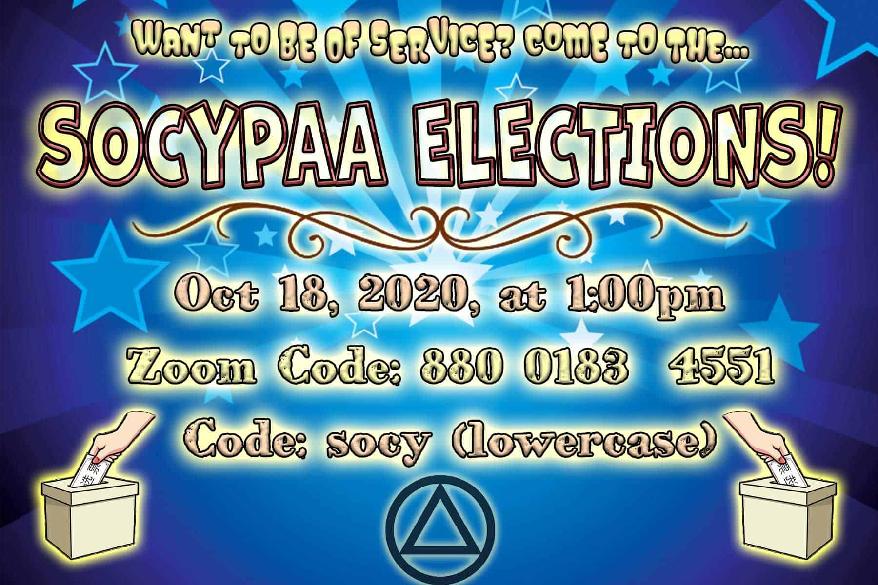 2020 Socypaa Elections flyer